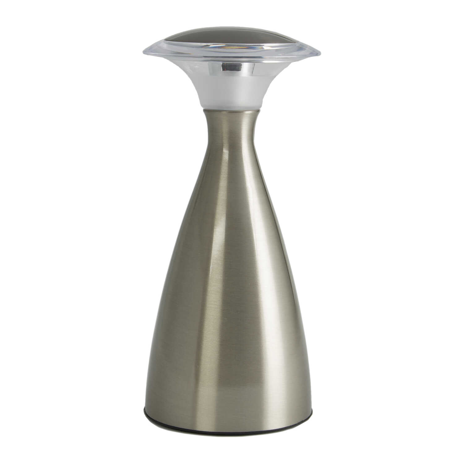 Fulcrum  9 in. Sand Nickel  Portable Table Lamp