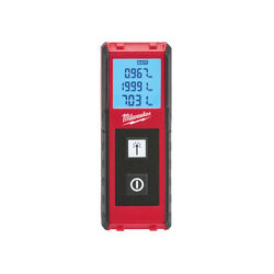 Milwaukee 4 in. L x 1-1/2 in. W Laser Distance Meter 65 ft. Red 1 pc.