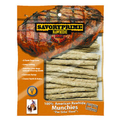 Savory Prime  Munchies  All Size Dogs  Adult  Rawhide Bone  Natural  5 in. L 30 pk