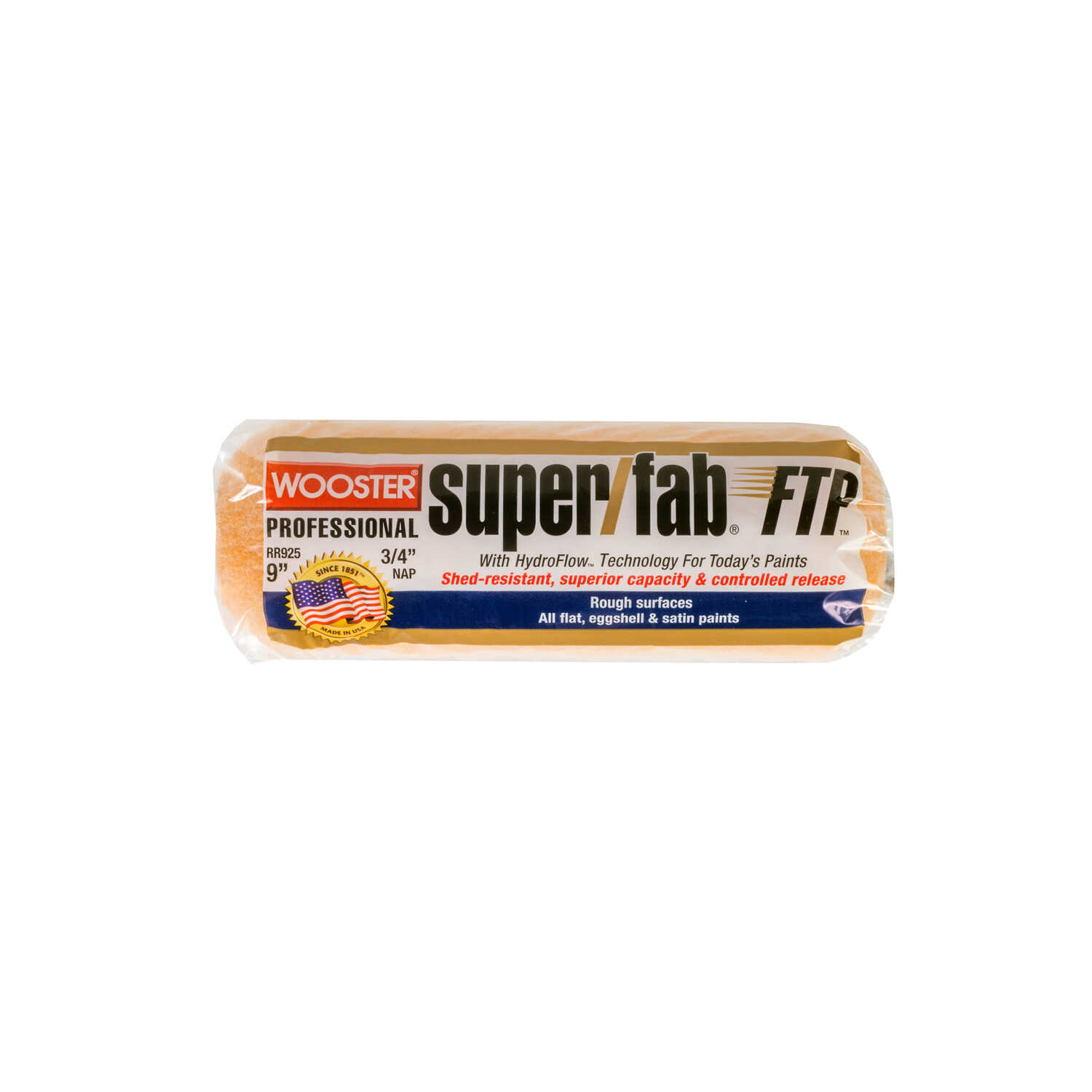 Wooster  Super/Fab FTP  Synthetic Blend  3/4 in.  x 9 in. W Paint Roller Cover  For Rough Surfaces 1