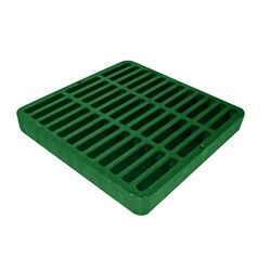 NDS  9 in. Green  Square  Polyethylene  Drain Grate