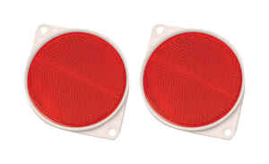Hy-Ko  8.8 in. Round  Red  Reflectors  2 pk