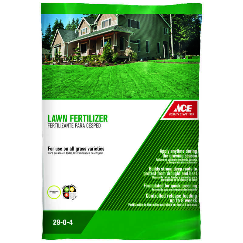 Ace 29 0 4 Lawn Fertilizer For All Grass Types 42 Lb