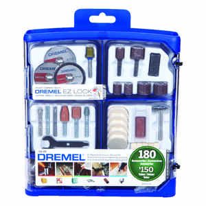 Dremel  9   x 9 in. L Metal  Rotary Accessory Kit  160 pk