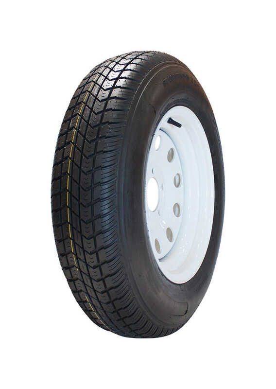 MARASTAR  14 in. Dia. x 25.6 in. Dia. 1760 lb. capacity 5-Bolt  Tire  Rubber  1 pk