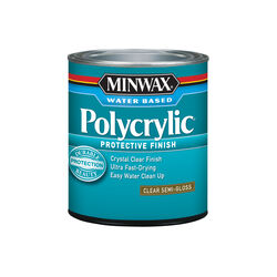 Minwax Semi-Gloss Clear Polycrylic 1 qt.