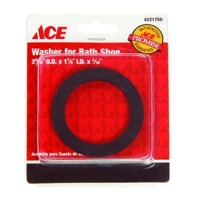 Ace  1/4 in. Dia. Rubber  Bath Shoe Washer  1 pk