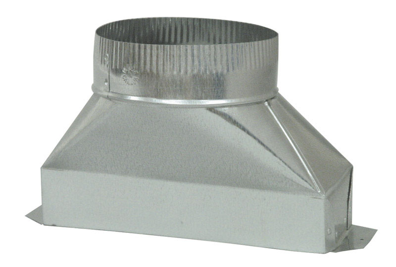 Deflect-O  Jordan  6 in. Dia. x 10 in. L Galvanized Steel  Duct