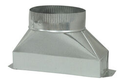 Deflect-O  6 in. Dia. x 10 in. L Galvanized Steel  Duct