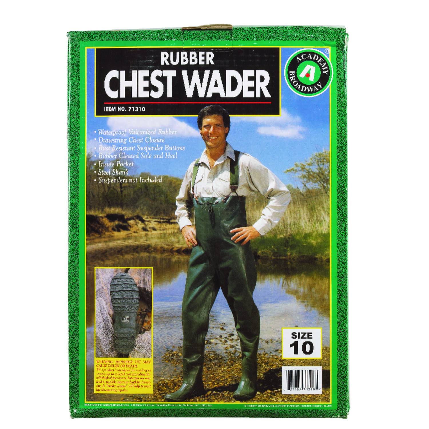 Academy Broadway  Chest Wader  10