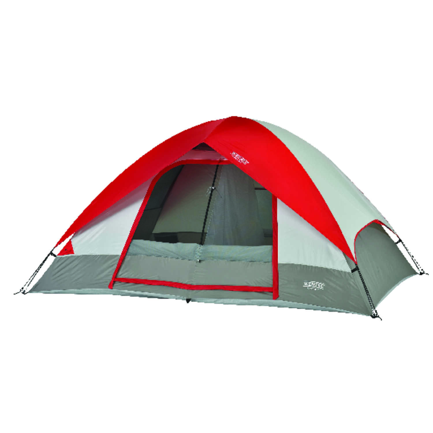 Wenzel  Gray/Red  Tent  60 in. H x 84 in. W x 120 in. L