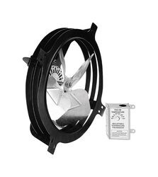 Air Vent  18.3 in. H x 18.3 in. W x 7.5 in. L x 15 in. Dia. Plastic and Steel  Gable Mount Power Fan