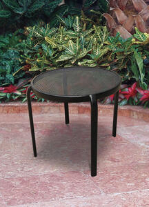 Living Accents  Seville  Round  Black  Table