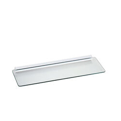 Knape & Vogt  1/4 in. H x 24 in. W x 8 in. D Clear/White  Glass  Shelf Kit