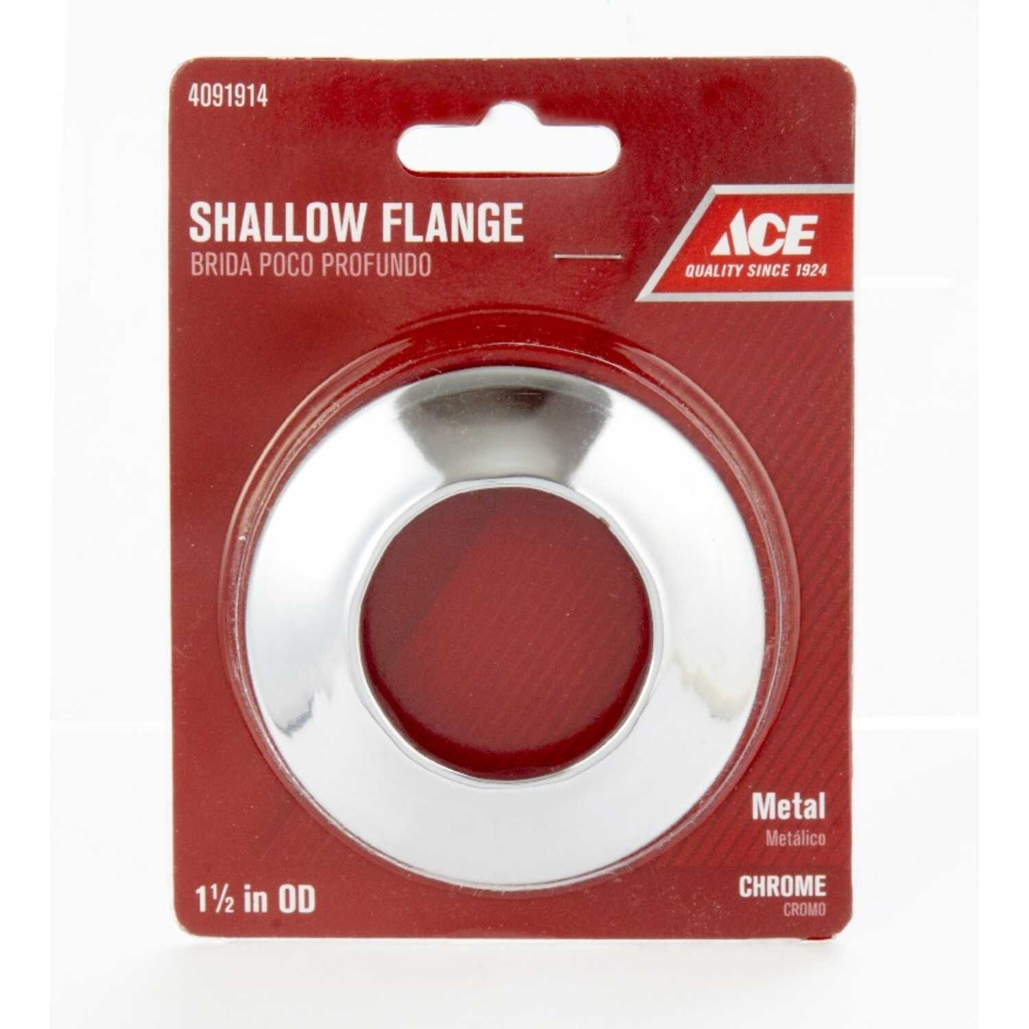 Ace  1-1/2 in. Shallow Flange  Metal
