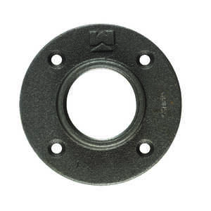 B & K  1-1/2 in. FPT   Black  Malleable Iron  Floor Flange