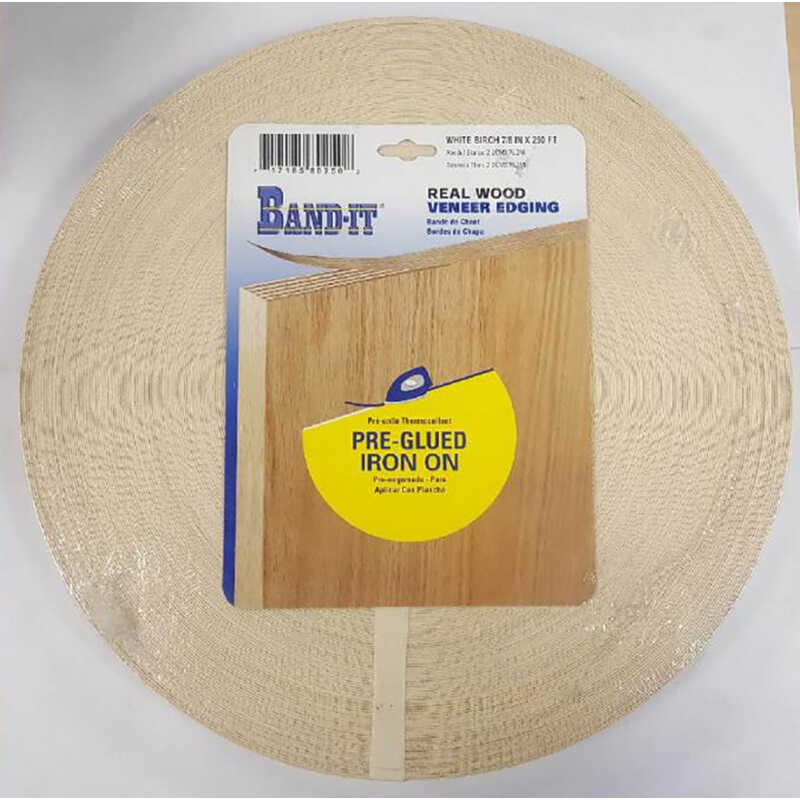 Band It  7/8 in. W x 250 ft. L x .030 in.  Birch  Real Wood Veneer Edging