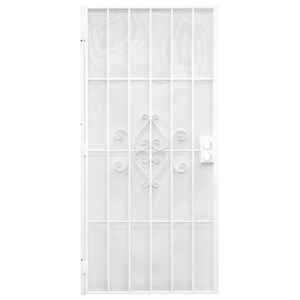 Precision  81-3/4 in. H x 36 in. W Regal  White  Steel  Security Door