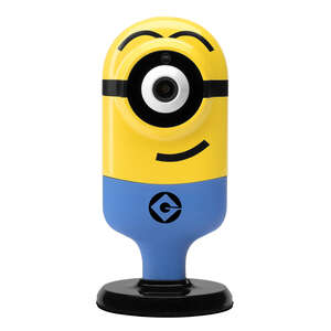 Minion Flexi Cam  Stuart Mischievous  Plug-in  Indoor  Yellow  Security Camera