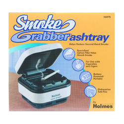 Holmes  Smoke Grabber  White  Plastic  Ashtray