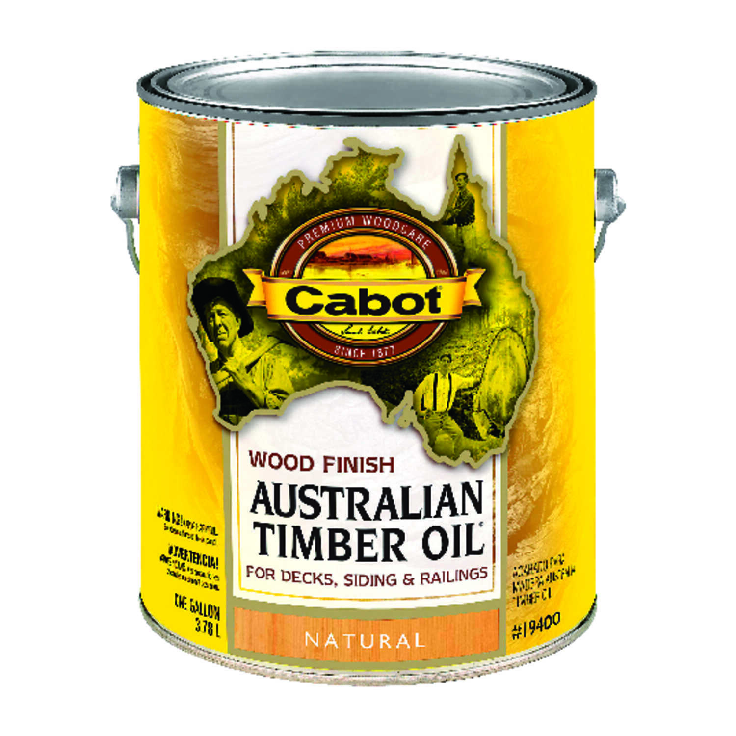 Cabot  Transparent  Natural  Oil-Based  Natural Oil/Waterborne Hybrid  Australian Timber Oil  1 gal.