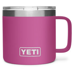 YETI Rambler 14 oz. Prickly Pear Pink BPA Free Vacuum Insulated Mug