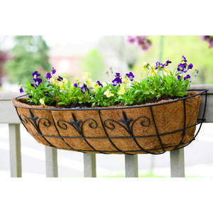Living Accents  Black  Steel  Window Planter