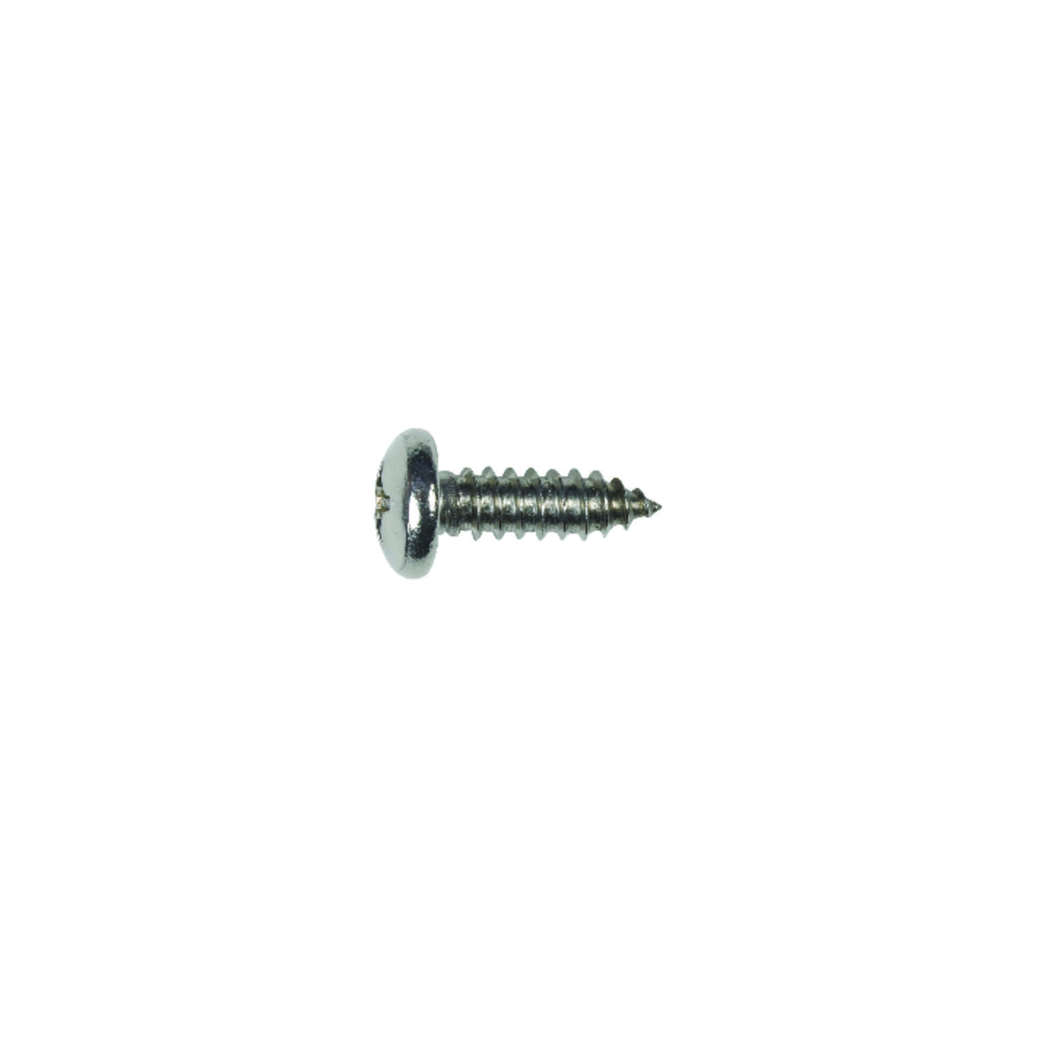 HILLMAN  3/4 in. L x 14   Pan Head Stainless Steel  Sheet Metal Screws  Phillips  100 per box