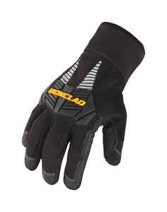 Ironclad  Large  Cold Weather  Gloves  Synthetic Leather  Black