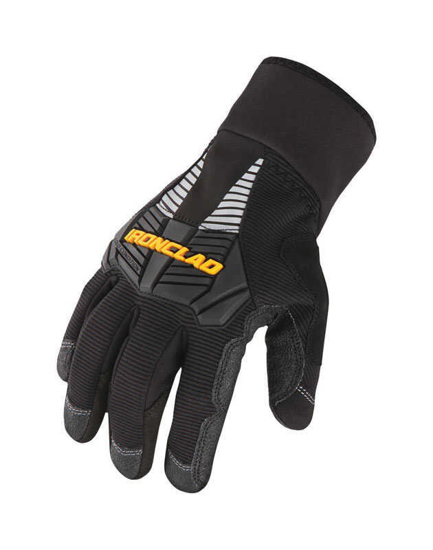 Ironclad  Large  Synthetic Leather  Cold Weather  Black  Gloves