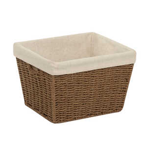 Honey Can Do  8 in. H x 10 in. L x 12 in. W Brown  Rope Basket
