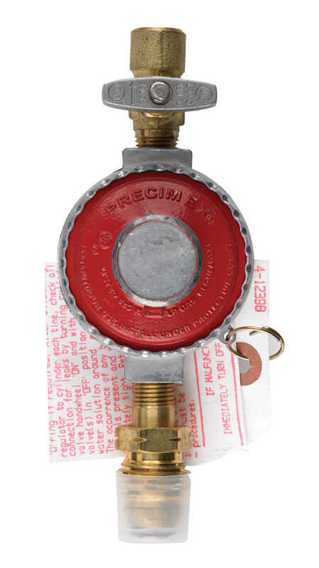 B & K  1/4 in. Dia. x 1/4 in. Dia. Brass/Plastic  High Pressure Regulator