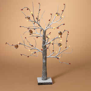 Gerson  Snowy w/Pine Cones, Berries  Christmas Tree  Wire  1 pk