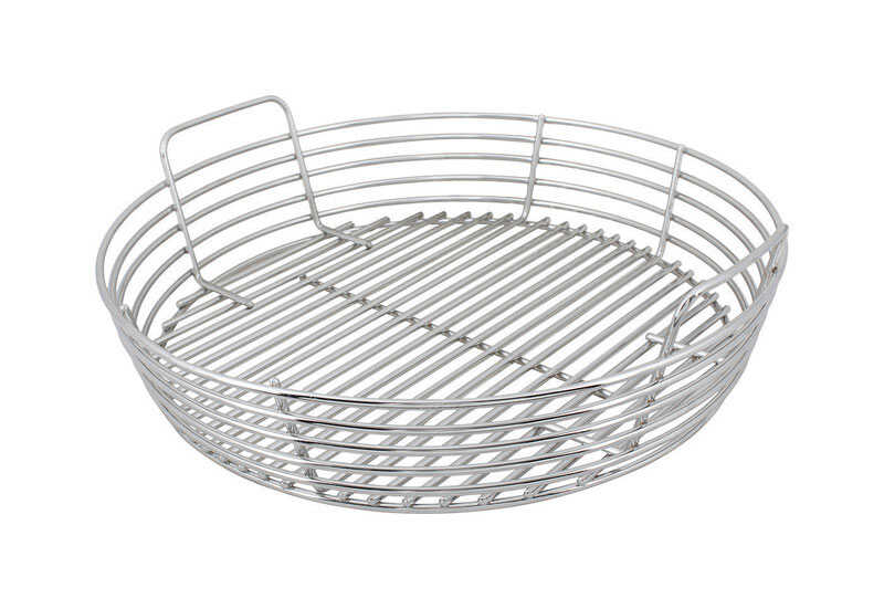 Kick Ash Basket  Stainless Steel  Charcoal Grate  5.75 in. H x 19 in. W x 19 in. L