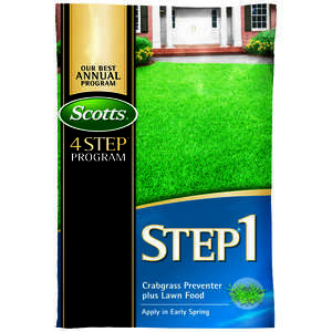 Scotts  Step 1  28-0-7  Crabgrass Preventer with Fertilizer  For Augustine