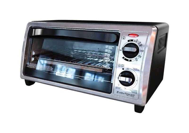 Black and Decker  Convection Toaster Oven  9.4 in. H x 12 in. W x 17.3 in. L Silver