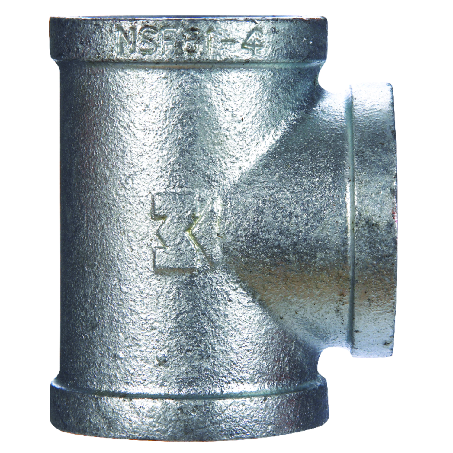 B & K  1 in. FPT   x 1 in. Dia. FPT  Galvanized  Malleable Iron  Tee