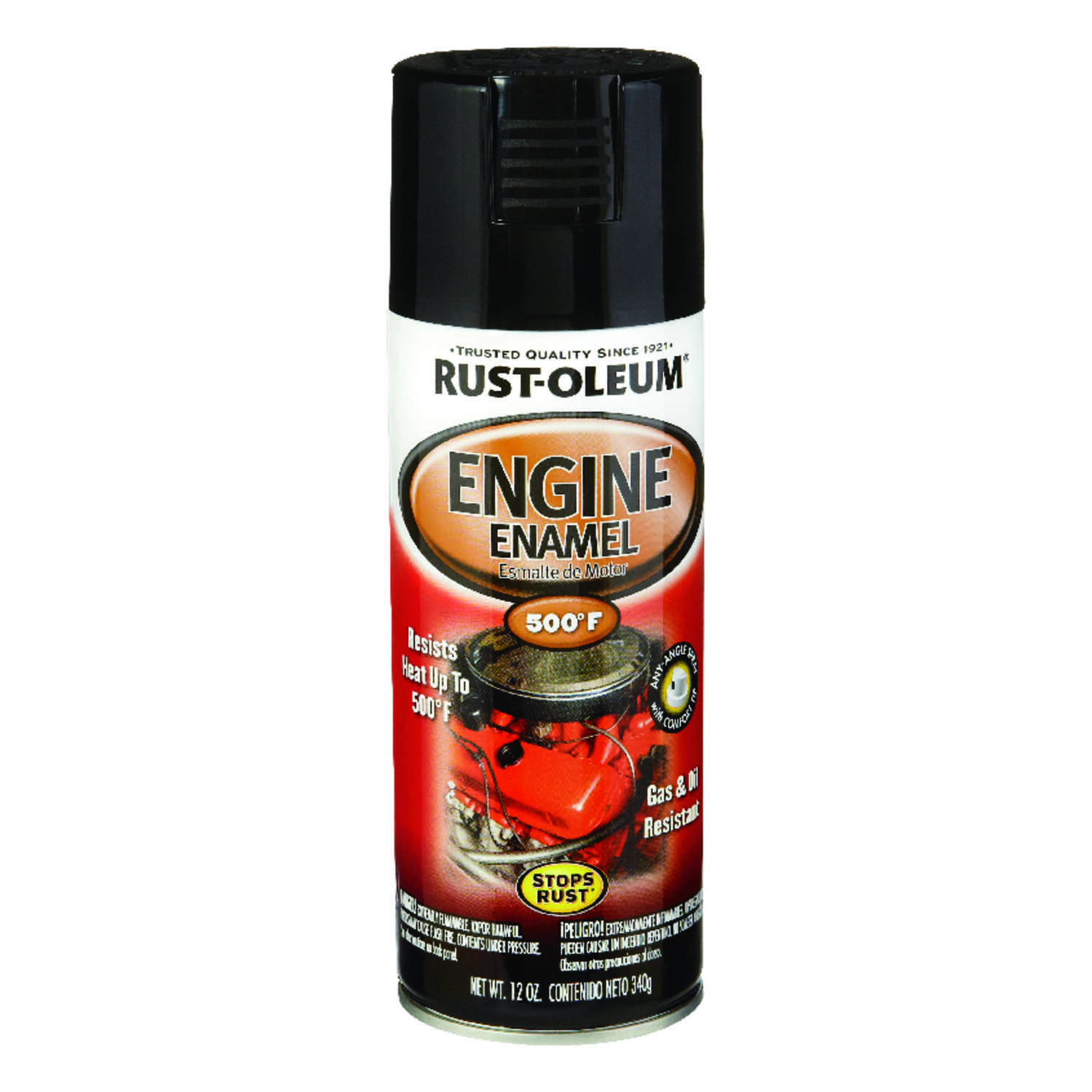 Rust-Oleum  Automotive  Gloss  Black  12 oz. Engine Enamel Spray