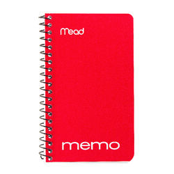 Mead 3 in. W x 5 in. L Wide Ruled Spiral Memo Book