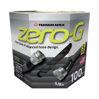 Teknor Apex  Zero-G  5/8 in. Dia. x 100 ft. L Black  Garden Hose