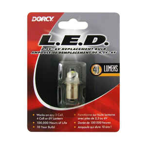 Dorcy  LED  Flashlight Bulb  6 volt Bayonet Base