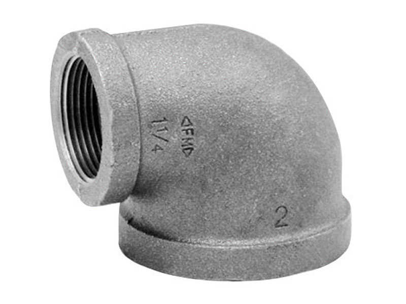 Anvil  1 in. FPT   x 3/4 in. Dia. FPT  Galvanized  Malleable Iron  Elbow