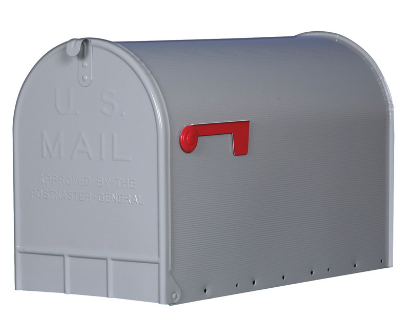 beautiful Ace Hardware Mailbox Post Part - 19: Gibraltar Jumbo Galvanized Steel Post Mounted Silver Mailbox 15-3-4 in. H