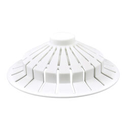 Danco  5-1/2 in. Dia. White  Plastic  Bathtub Hair Catcher