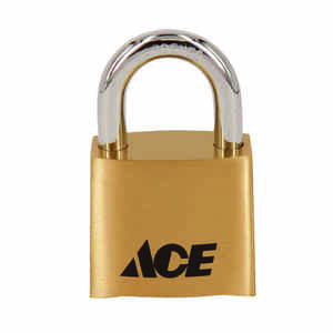 Ace  1-11/16 in. H x 1-7/8 in. L x 1 in. W Die Cast  4-Dial Combination  Padlock  1 pk