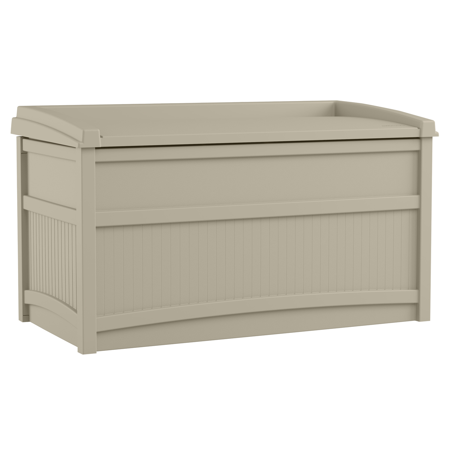 Suncast  Resin  23-1/4 in. H x 41 in. W x 21 in. D Deck Box with Seat  Light Taupe