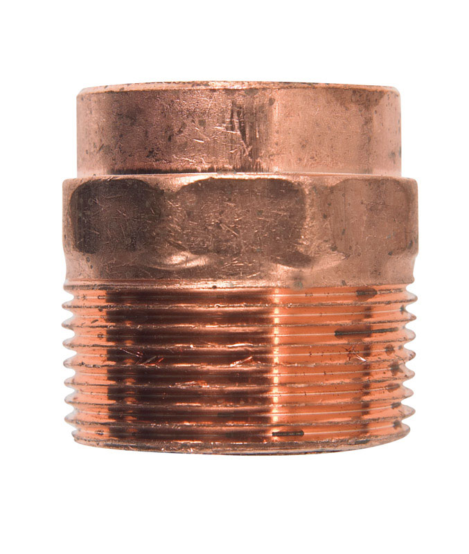 Elkhart  1-1/4 in. Dia. x 1-1/4 in. Dia. Copper To MIP  Copper  Pipe Adapter