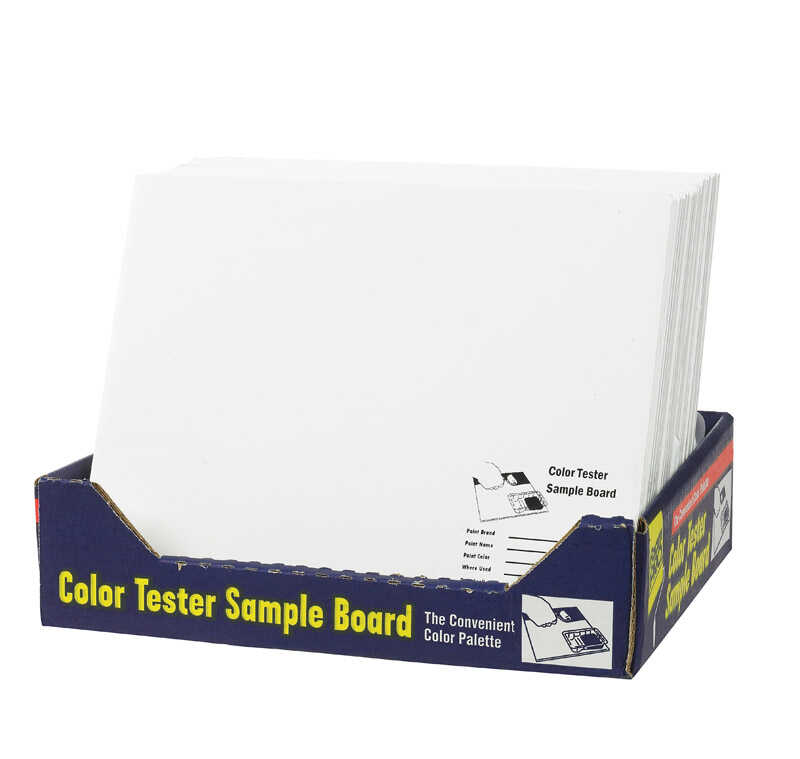 FoamPRO  12 in. L x 10 in. W Foam Core  Color Test Sample Board