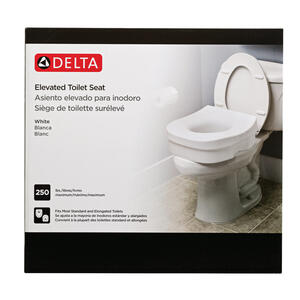 Delta White Elevated Toilet Seat Plastic 5 In H X 11 3 4 In L
