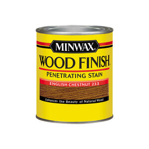 Minwax  Wood Finish  Semi-Transparent  English Chestnut  Oil-Based  Oil  Wood Stain  1 qt.